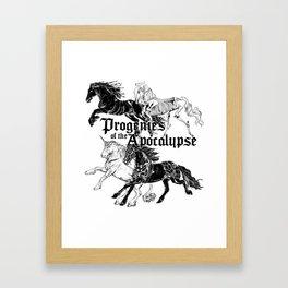 Cavaliers de l'Apocalypse Framed Art Print