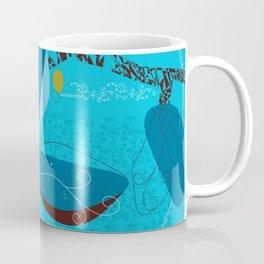 Blue Saucer Magnolia Coffee Mug
