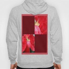 Mottled Red Poinsettia 2 Blank Q10F0 Hoody