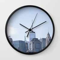 manhattan Wall Clocks featuring Manhattan by Shamel Jaime
