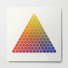 Lichtenberg-Mayer Colour Triangle recoloured remake, based on Mayer's original idea and illustration Metal Print