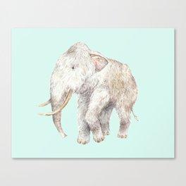 Woolly Mammoth Watercolor Mastodon Painting Canvas Print