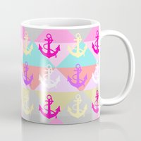 anchors Mugs featuring Anchors by Ornaart