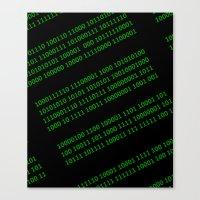 matrix Canvas Prints featuring Matrix by Birkum Design