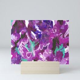 Purple Abstract Mixed-Media: Royal Mini Art Print