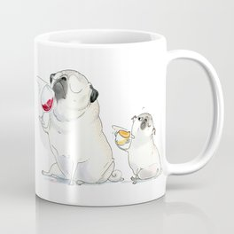 The Sommeliette - Wine and Pugs Art Coffee Mug