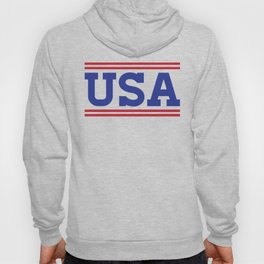 Retro USA Red White Blue Design Hoody