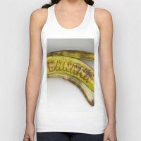 banana Tank Tops featuring Banana by Abby Hoffman