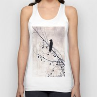 crow Tank Tops featuring Crow by Maite Pons