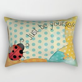 Ladybug II - Just be Yourself Rectangular Pillow