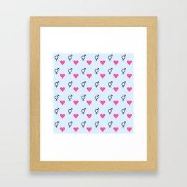 heart and transgender Framed Art Print