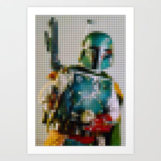Boba Fett Pixel Art Print