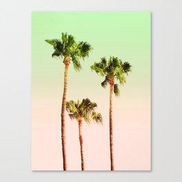 PASTEL PALM TREES Canvas Print