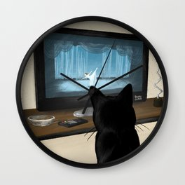 Watching TV Wall Clock