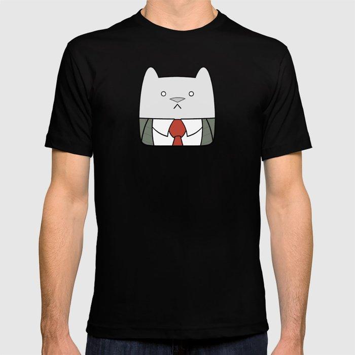 b89812c5a Business Cat Cube T-shirt by happyjar | Society6