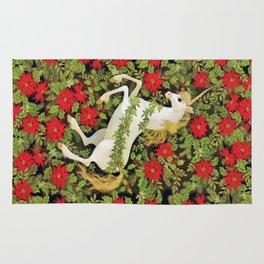 Christmas Unicorn Rug