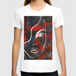 Red Woman Painting T-shirt