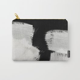 brush stroke black white painted Carry-All Pouch
