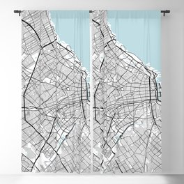 Buenos Aires City Map of Argentina - Circle Blackout Curtain