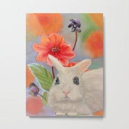 White Dwarf Bunny Metal Print