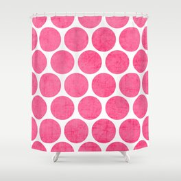 pink polka dots Shower Curtain