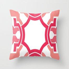 Pink rectangle Throw Pillow