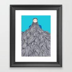 SuperBeard Framed Art Print