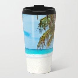 Turquoise Tropical Beach Travel Mug