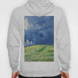 Vincent van Gogh - Wheatfield under Thunderclouds Hoody