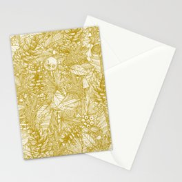 forest floor gold ivory Stationery Cards