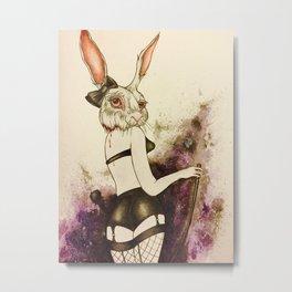 Kinky Bunny Metal Print