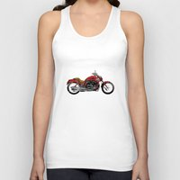 motorcycle Tank Tops featuring Motorcycle by magnez2