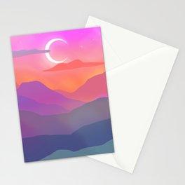 desert nights Stationery Cards