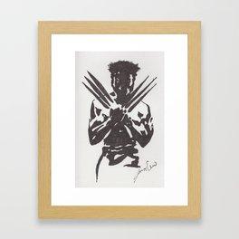 Negative superhero Framed Art Print