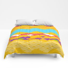 Summer bright pattern  scales simple Nature background with Chinese wave circle pattern Comforters