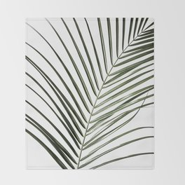 Palm Leaves 8 Throw Blanket