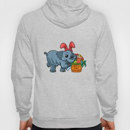 Cute Elephant Easter print | Egg Hunt Gift For Animal Lovers Hoody