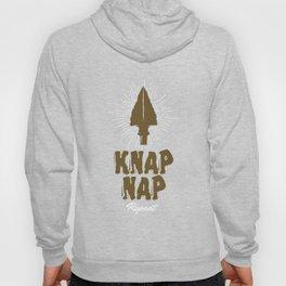 Flint Knapper Knap Nap Repeat Bushcraft Skills Lithic Artist Gift Hoody