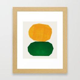 Abstraction_STONES Framed Art Print