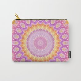 Mandala of Summer in Pink, Orange and Purple Carry-All Pouch