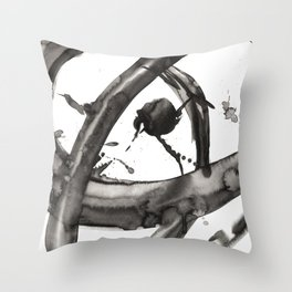 Abstract ink painting -  inner loop Throw Pillow
