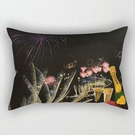 Fogo de artificio fim de ano na Madeira! Rectangular Pillow