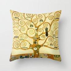 Gustav Klimt The Tree Of Life Throw Pillow