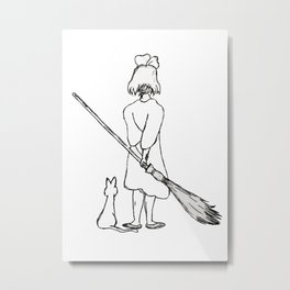 Believe in Yourself (Kiki) - Sketch Metal Print