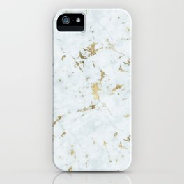 Ice Frost Marble Gold Mine iPhone Case