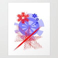 Wheel Flakes Art Print