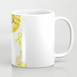 Elephant Faith Hope Fight Love Endometriosis Awareness T-Shirt Coffee Mug