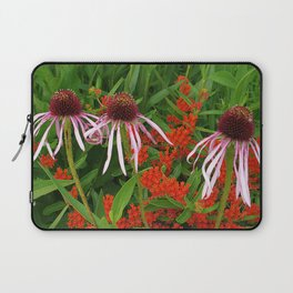 Coneflowers and Butterfly weed 7605 Laptop Sleeve