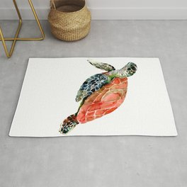 Sea Turtle, turtle art, turtle design Rug