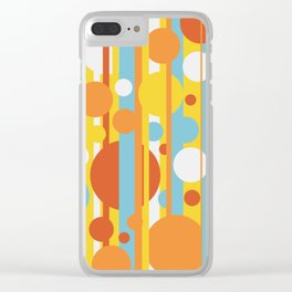 Stripes and circles color mode #2 Clear iPhone Case